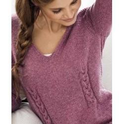 Trui - Cool Wool Big Melange GOTS - Merino Edition 1 (model 4)