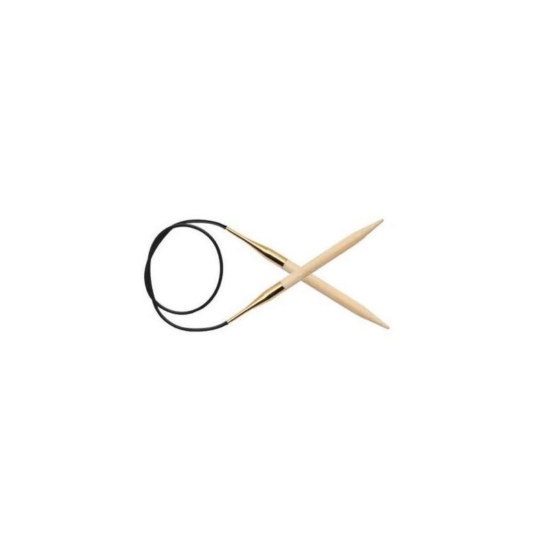 KnitPro Bamboo vaste rondbreinaalden 40cm