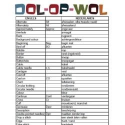 Engelse vertaallijst
