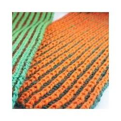 Twee kleurige patentsteek sjaal
