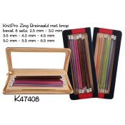 KnitPro Zing aluminium Breinaaldenset