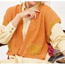 Vest - Cool Wool Lace Handdyed & Ecopuno - Handdyed 3 (model 7)