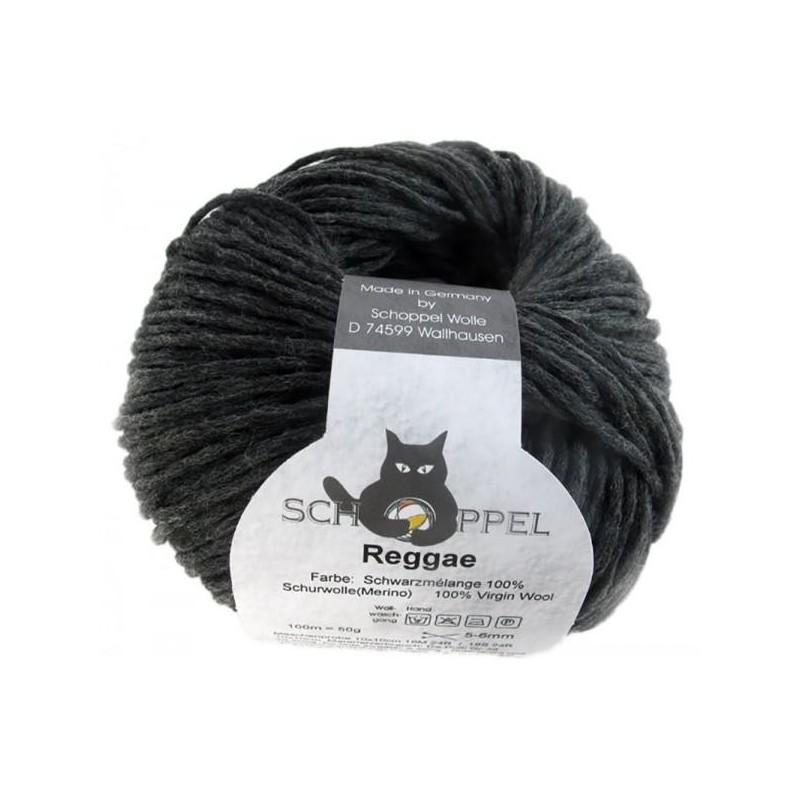 Schoppel Wolle Reggae 9093 Schwarzmelange