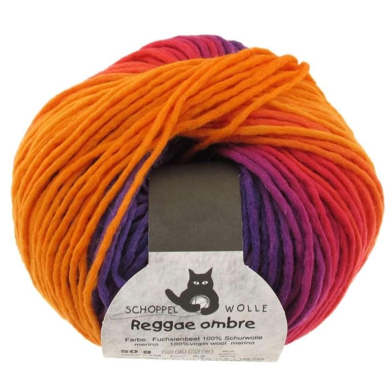 Schoppel Wolle Reggae Ombre 1536 Fuchsienbeet