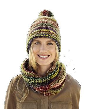 muts en ronde sjaal Olympia Lana Grossa