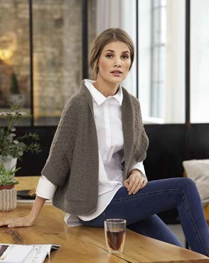 Vest van Lana Grossa Cool Wool Big